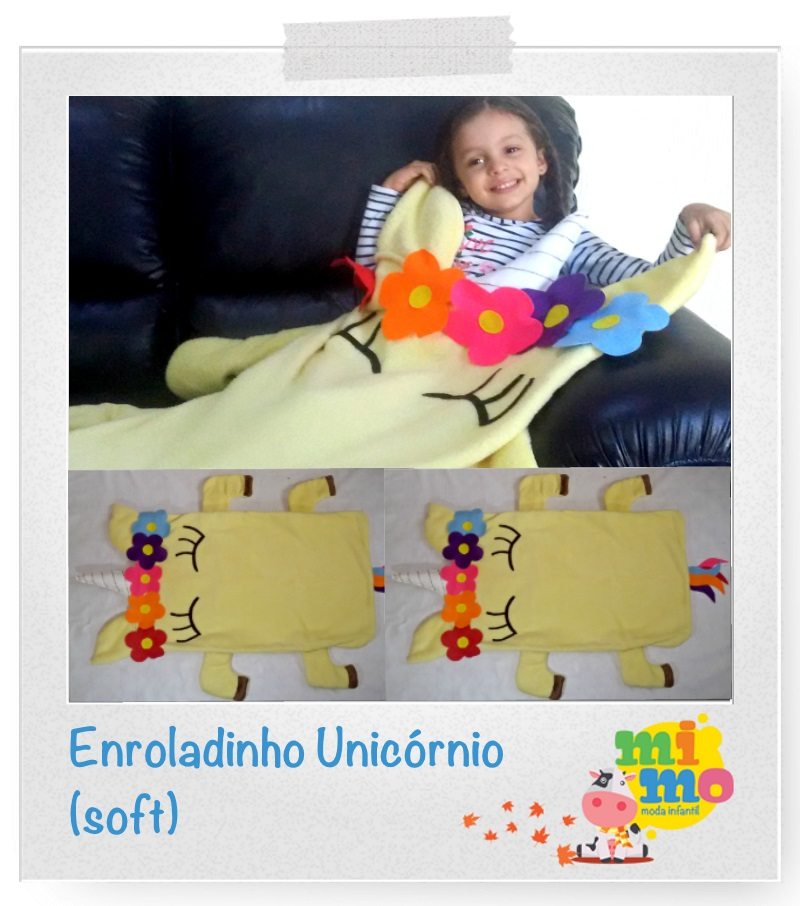Enroladinho Unicórnio – Cobertinha Soft